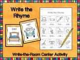 Write the Rhyme CVC - Read & Write the Room