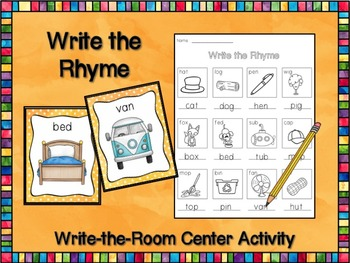 Write the Rhyme CVC - Read & Write the Room