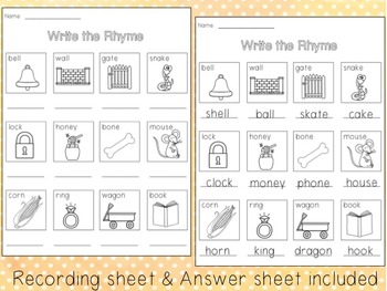 Write the Rhyme - Read & Write the Room