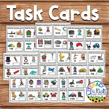 Write the Rhyming Word Task Cards (or Write the Room Activity)