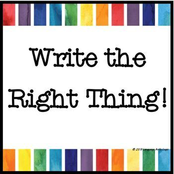 Write the Right Thing!  Words Often Misused