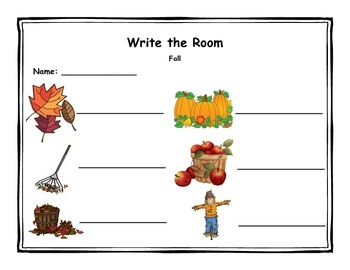 Write the Room - Holidays and Seasons
