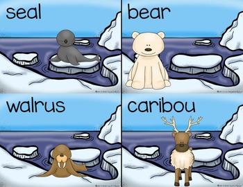 Winter Write the Room Sets    Christmas|Winter|Arctic Animals