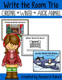 Winter Write the Room Sets    Christmas|Winter|Arctic Animals