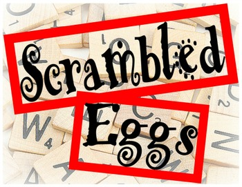 Daily Five Word Work Scrambled Eggs Worksheets