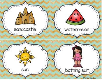 Kindergarten Write the Room - June {Write the Room Monthly}