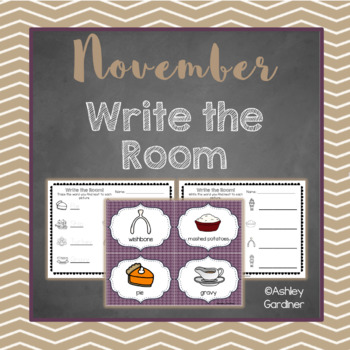 Kindergarten Write the Room - November