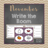 Kindergarten Write the Room - November {Write the Room Monthly}