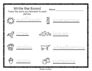 Kindergarten Write the Room - BUNDLE {Monthly Write the Room}