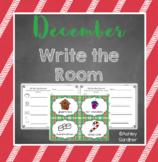 Kindergarten Write the Room - December {Write the Room Monthly}