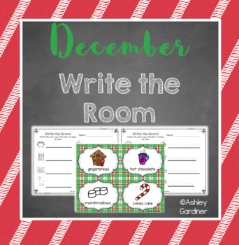 Kindergarten Write the Room - December {Write the Room Monthly}