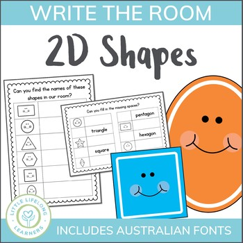 2D Shape - Write the Room Activity for Revising Shapes