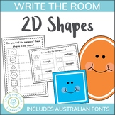 2D Shape Activity - Write the Room
