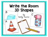 Write the Room 3D Shapes