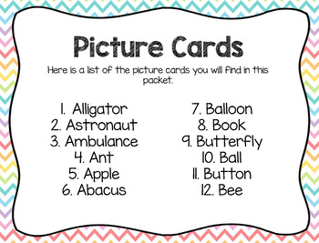 Write the Room: Beginning Sounds- A and B