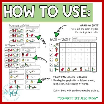"""Write the Room AND Roll + Graph ~ """"12 Days of Christmas"""" theme"""