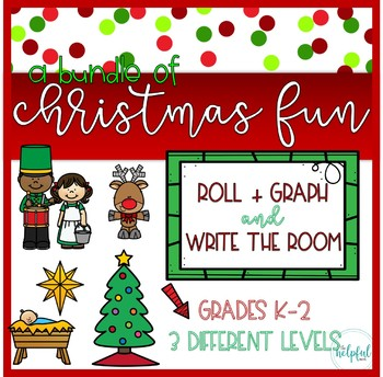 Write the Room AND Roll + Graph ~ Christmas Fun BUNDLE