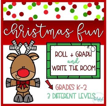 "Write the Room AND Roll + Graph ~ ""Christmas fun"" theme"