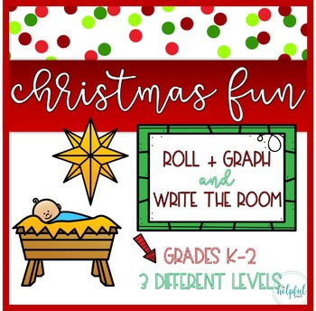 "Write the Room AND Roll + Graph ~ ""Nativity"" theme"