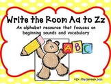 Alphabet Write the Room for Letters Aa to Zz