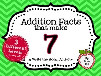 Write the Room Activity:  Addition Facts that make 7 DIFFERENTIATED