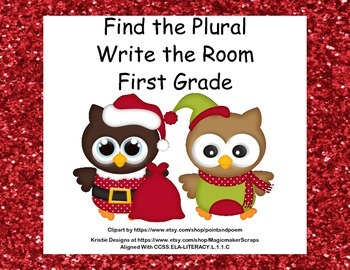 Find the Plurals-Grade 1- Write the Room Activity