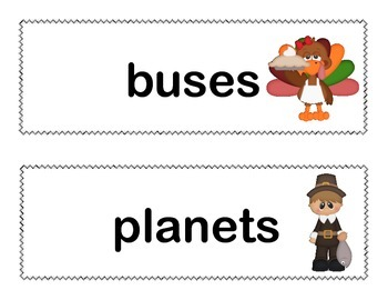 Find the Plurals-Write the Room Activity-Grade 2 CCSS-Thanksgiving