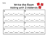 Write the Room~ Adding 3 Addends