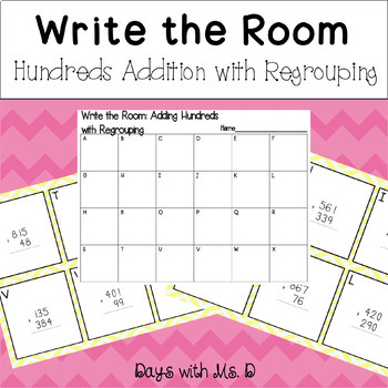 Write the Room: Adding hundreds with regrouping