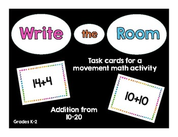 Write the Room Addition 10-20