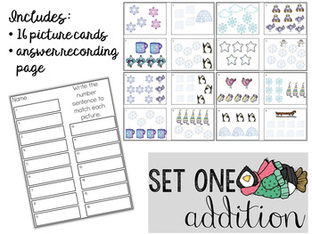 Write the Room: Addition And Subtraction Number Sentences (Winter Edition)