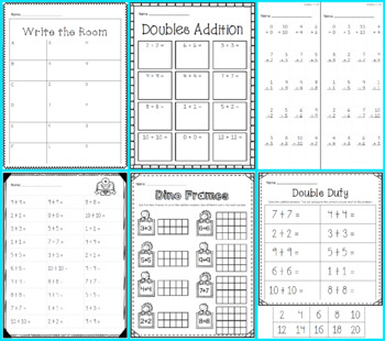 Write the Room - Addition DOUBLES