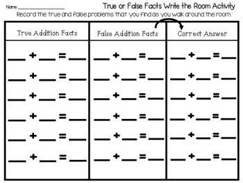 Write the Room Addition Sentences