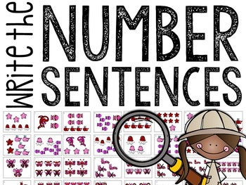 Write the Room: Addition & Subtraction Number Sentences (Valentines Edition)
