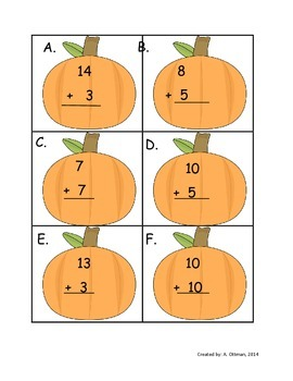 Write the Room: Addition and Subtraction Fact to 20