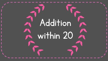 Write the Room Addition to 20 and Subtraction within 10
