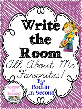 Write the Room All About Me Favorites