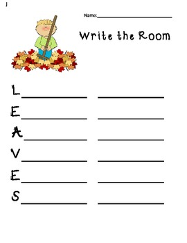 Write the Room - All Year with traditionalmonthly themes