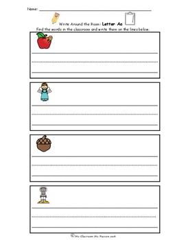 Write the Room Alphabet A-Z FREEBIE