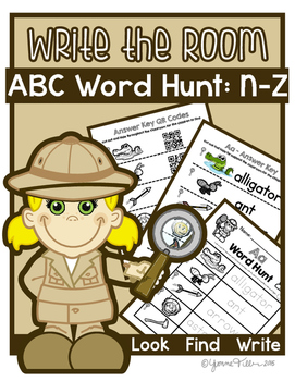 Write the Room - Alphabet Word Hunt N-Z Bundle