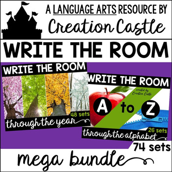 Alphabet and Monthly Write the Room Mega Bundle