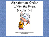 Write the Room-Alphabetical Order to Third Letter-Grades 2-3