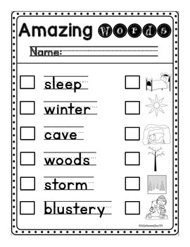 Write the Room: Amazing Words: Bear Snores On