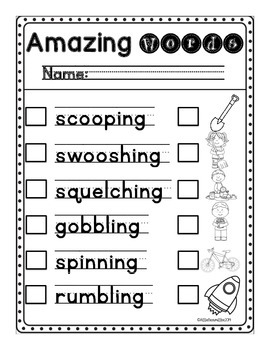 Write the Room: Amazing Words: Dig, Dig, Digging