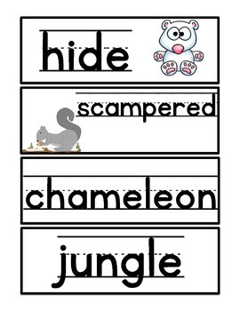 Write the Room: Amazing Words: Hide, Clyde!