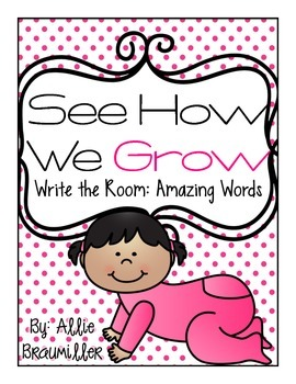 Write the Room: Amazing Words: See How We Grow