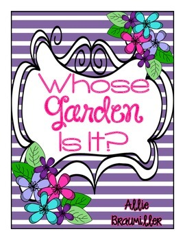 Write the Room: Amazing Words: Whose Garden Is It?