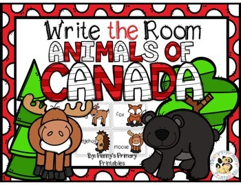 Animals of Canada Write the Room