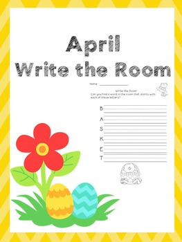 April Writing Activities / April Write the Room