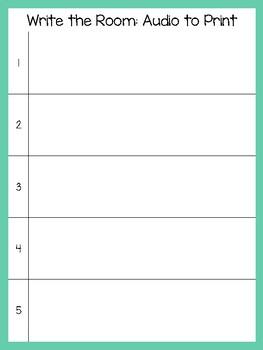 Write the Room Audio: Scan QR Code and Write Sentence (set b)